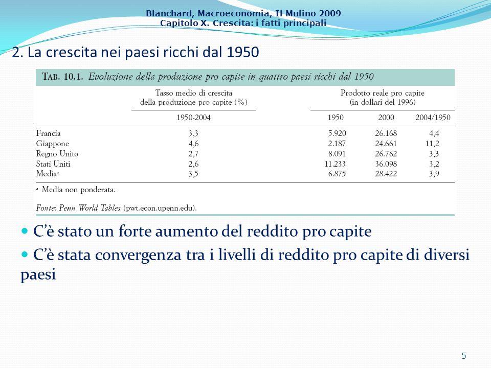 2. La crescita nei paesi ricchi dal 1950