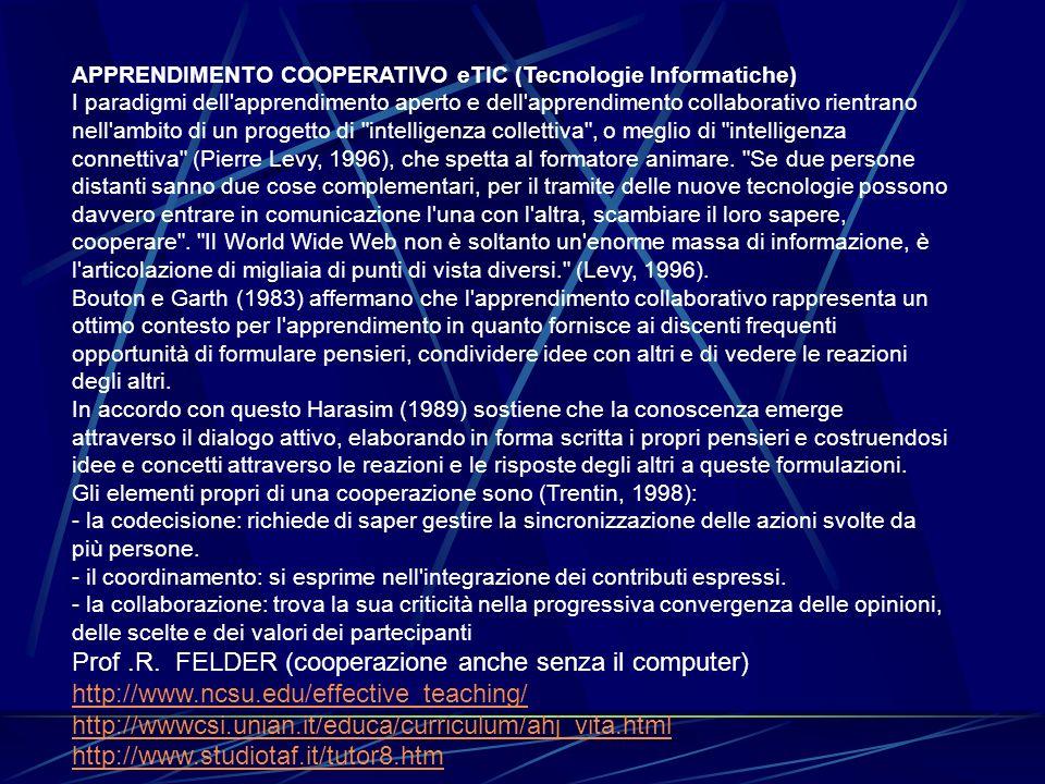 Prof .R. FELDER (cooperazione anche senza il computer)
