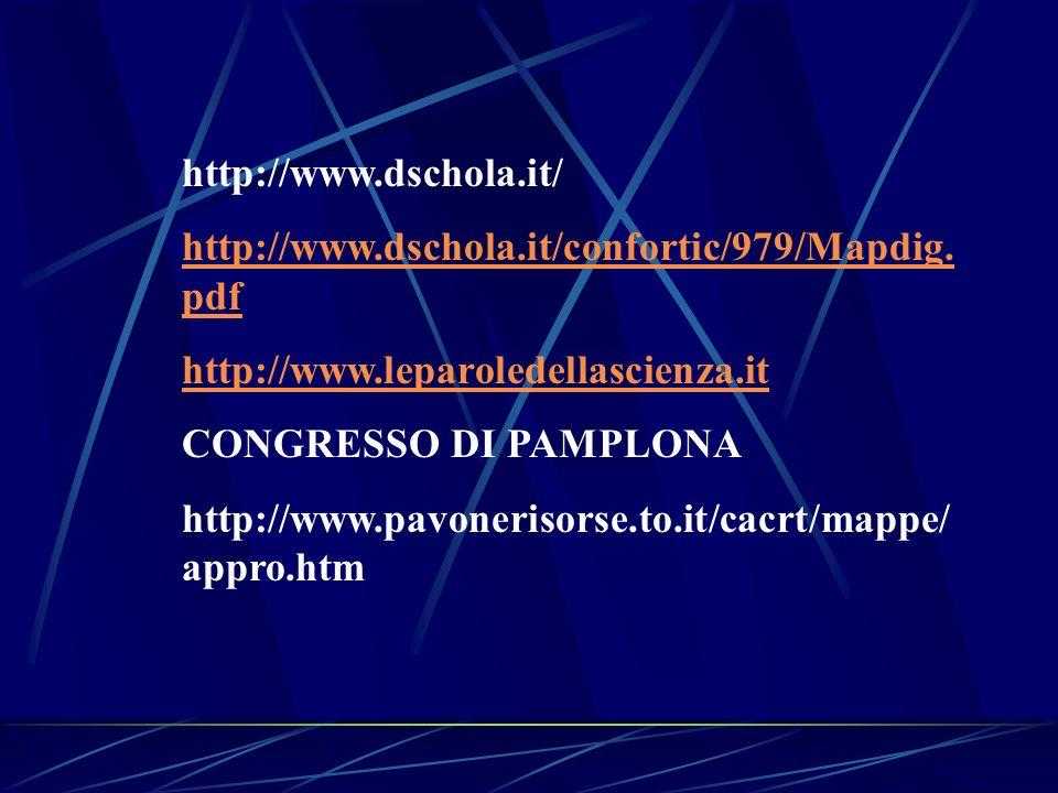 http://www.dschola.it/ http://www.dschola.it/confortic/979/Mapdig.pdf. http://www.leparoledellascienza.it.