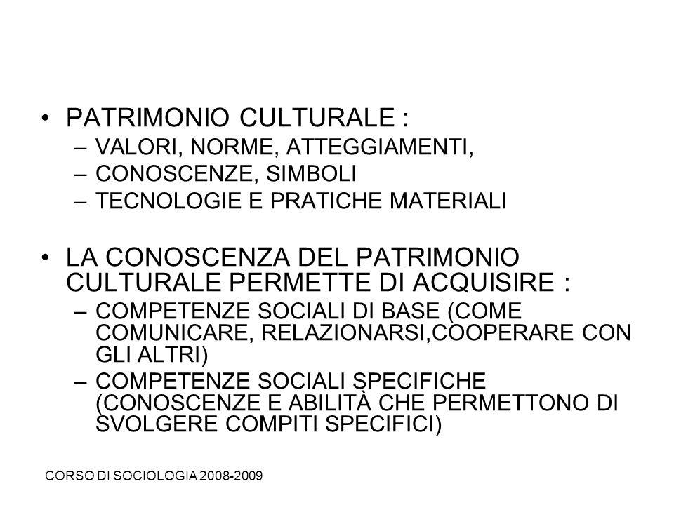 PATRIMONIO CULTURALE :