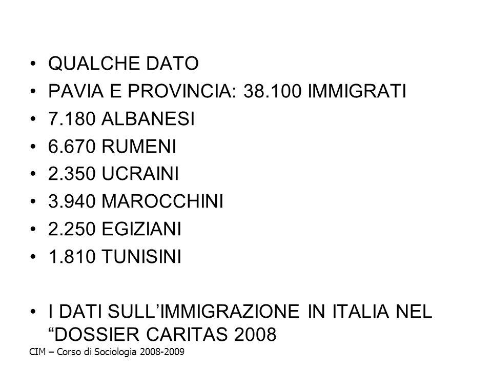 PAVIA E PROVINCIA: 38.100 IMMIGRATI 7.180 ALBANESI 6.670 RUMENI