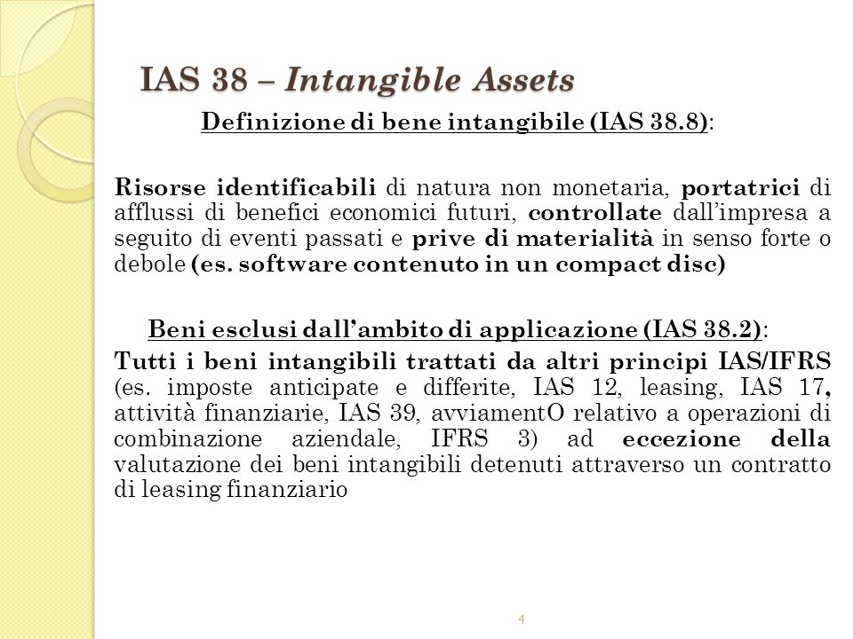 IAS 38 – Intangible Assets