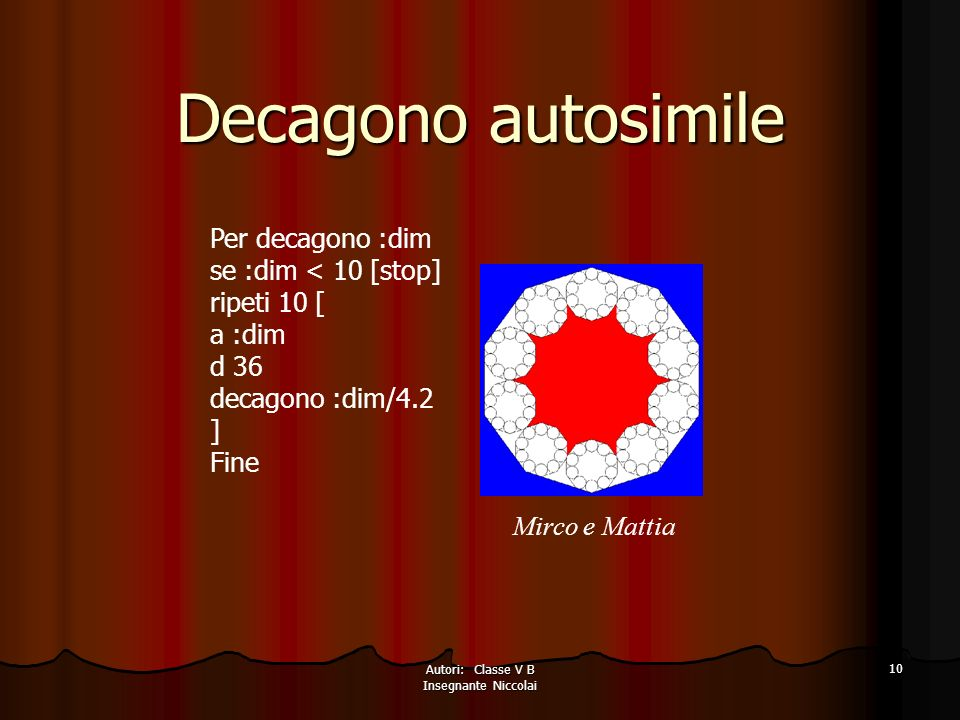 Autori: Classe V B Insegnante Niccolai
