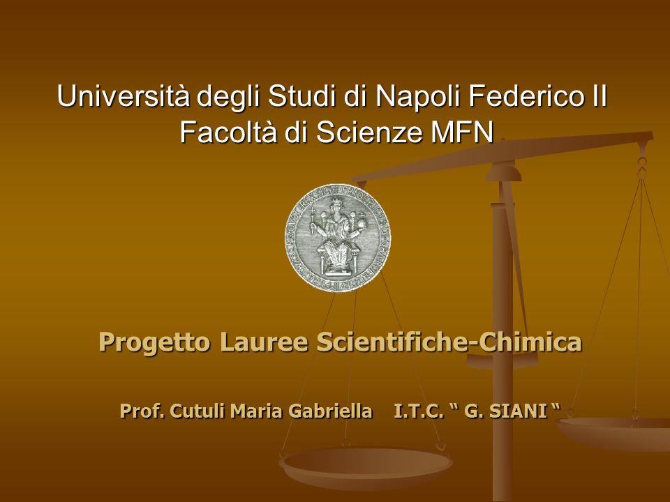 Università degli Studi di Napoli Federico II Facoltà di Scienze MFN