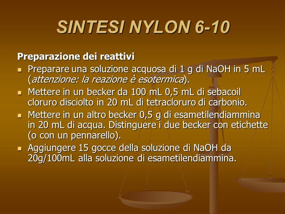 SINTESI NYLON 6-10 Preparazione dei reattivi