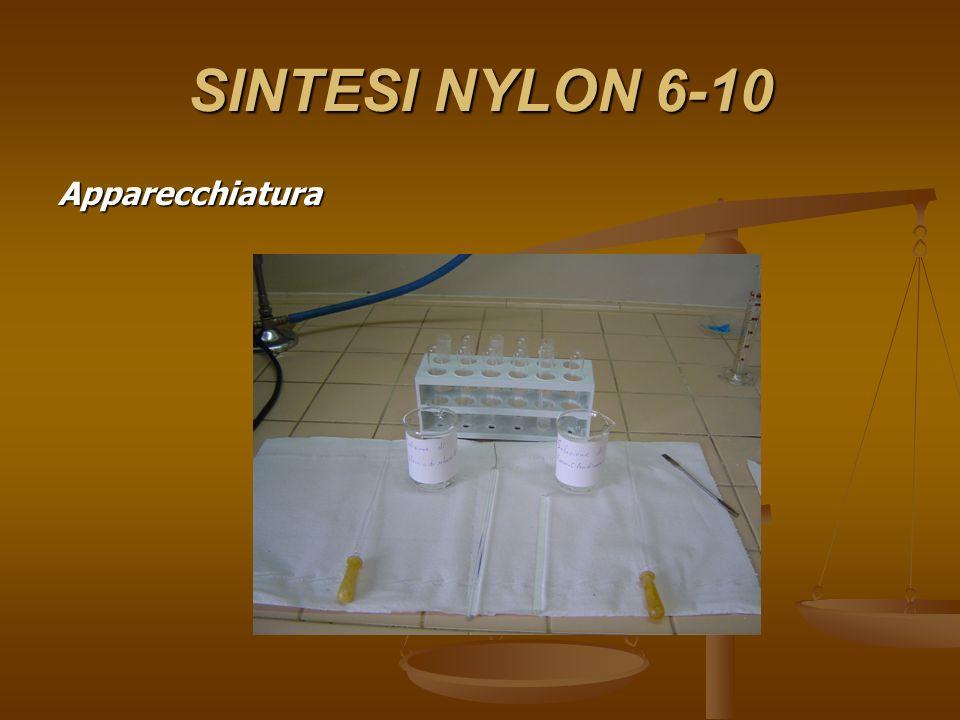 SINTESI NYLON 6-10 Apparecchiatura