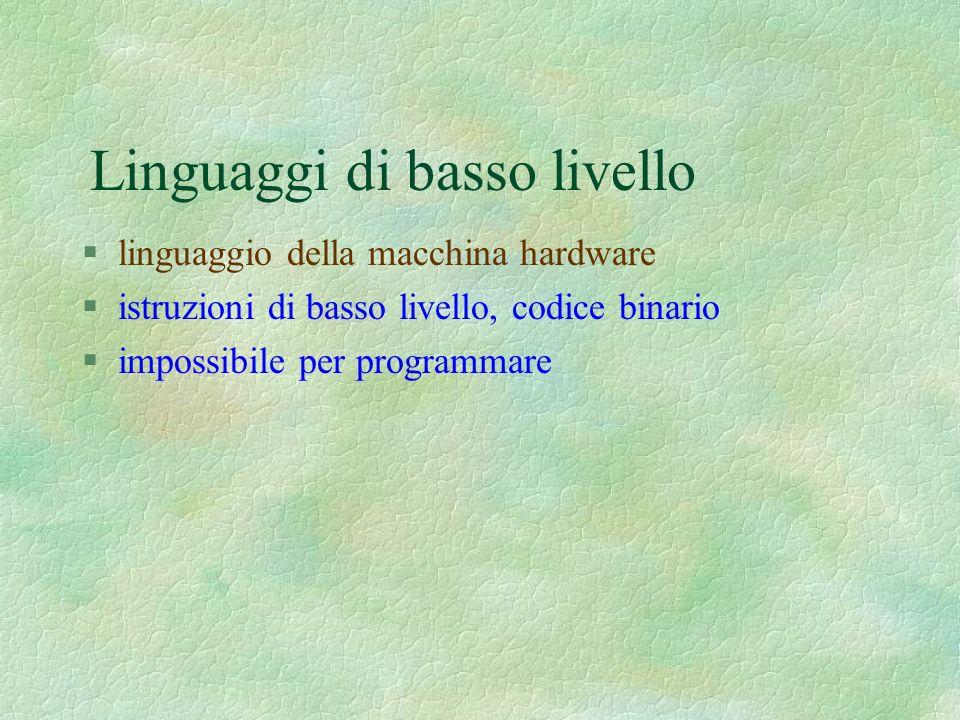 Linguaggi di basso livello