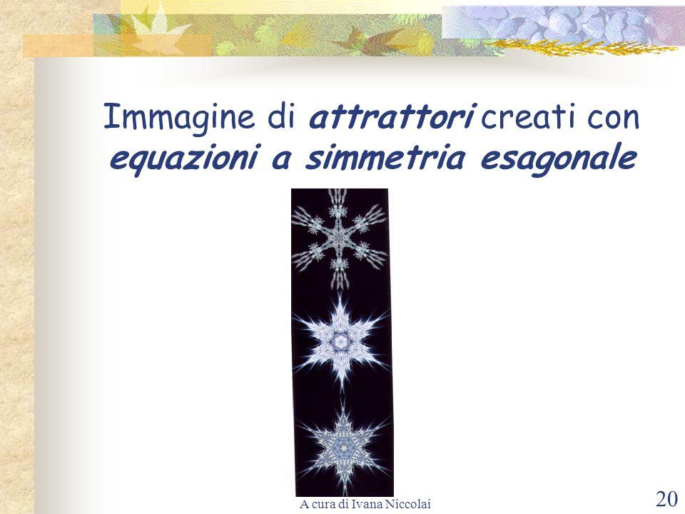 Immagine di attrattori creati con equazioni a simmetria esagonale