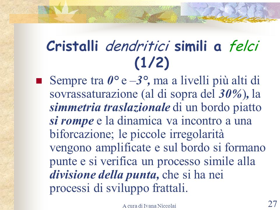 Cristalli dendritici simili a felci (1/2)