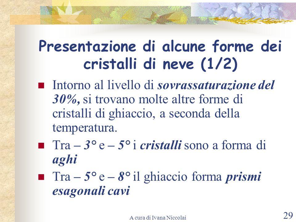 Presentazione di alcune forme dei cristalli di neve (1/2)