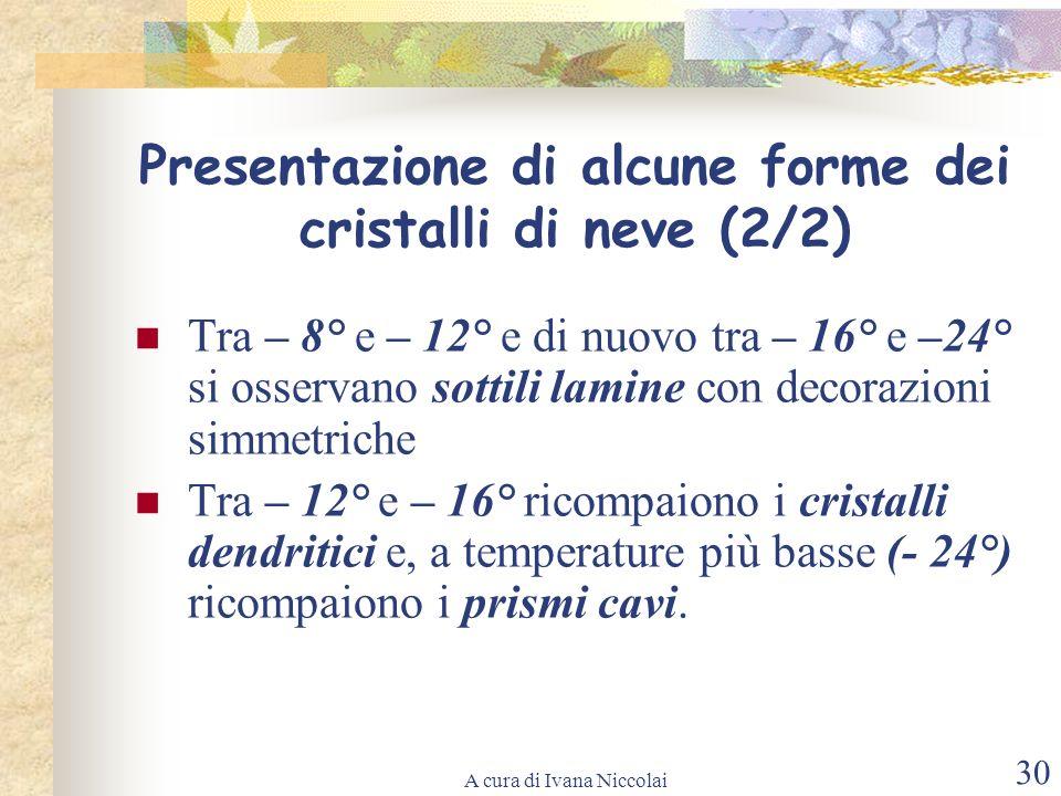Presentazione di alcune forme dei cristalli di neve (2/2)