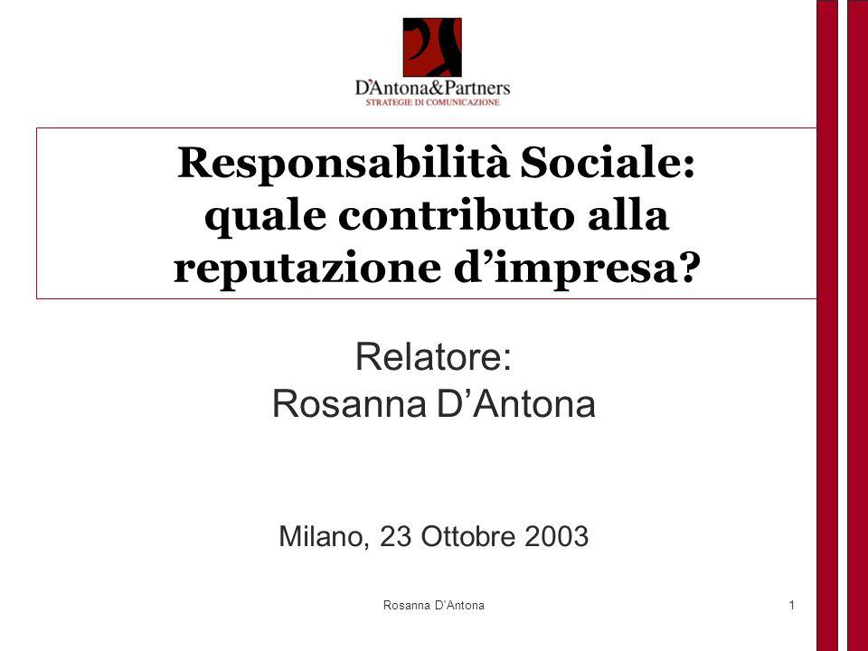 Responsabilità Sociale: quale contributo alla reputazione d'impresa