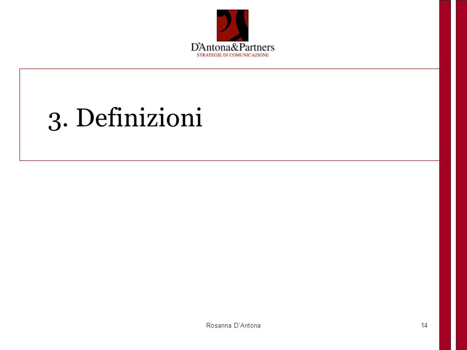 3. Definizioni Rosanna D Antona