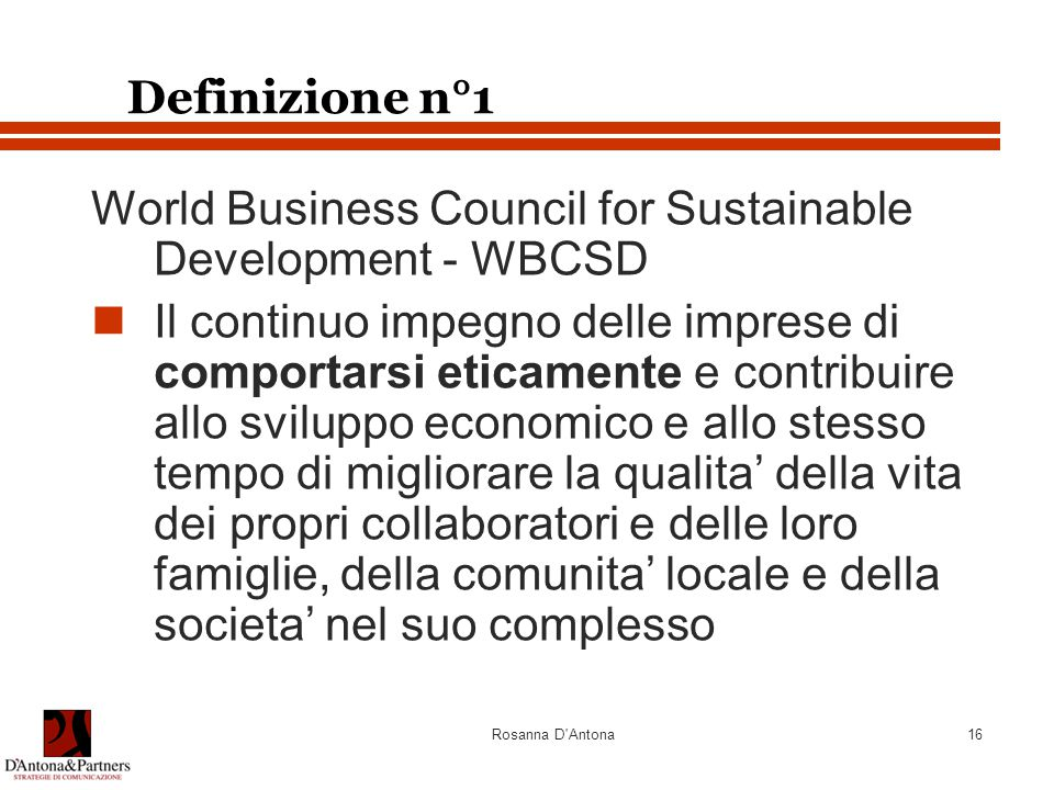 World Business Council for Sustainable Development - WBCSD