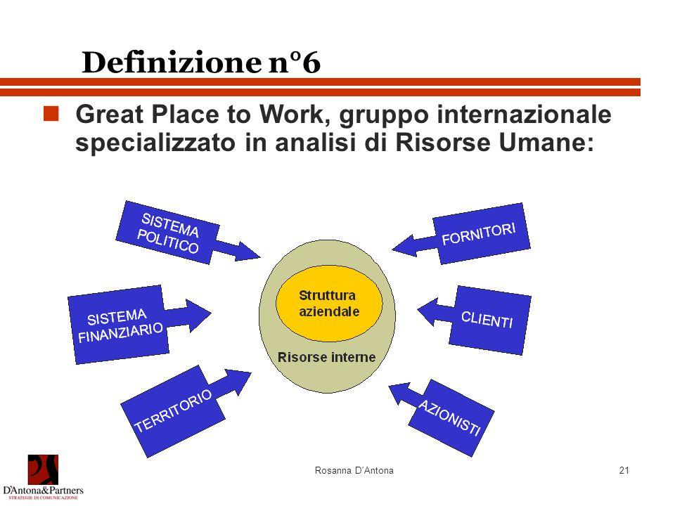 Definizione n°6 Great Place to Work, gruppo internazionale specializzato in analisi di Risorse Umane:
