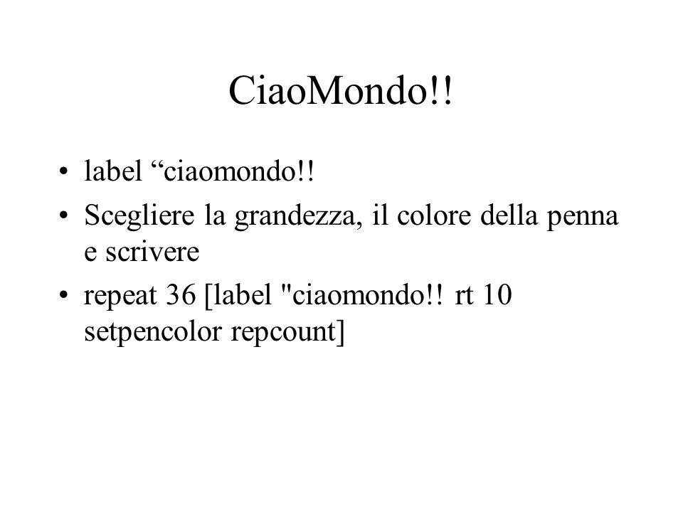 CiaoMondo!! label ciaomondo!!