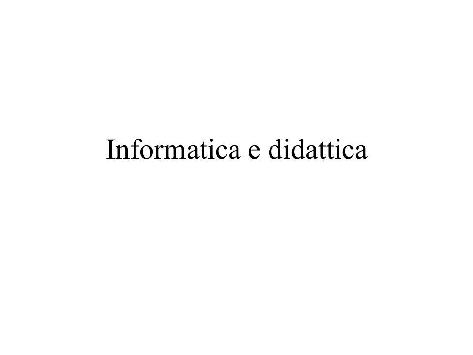 Informatica e didattica