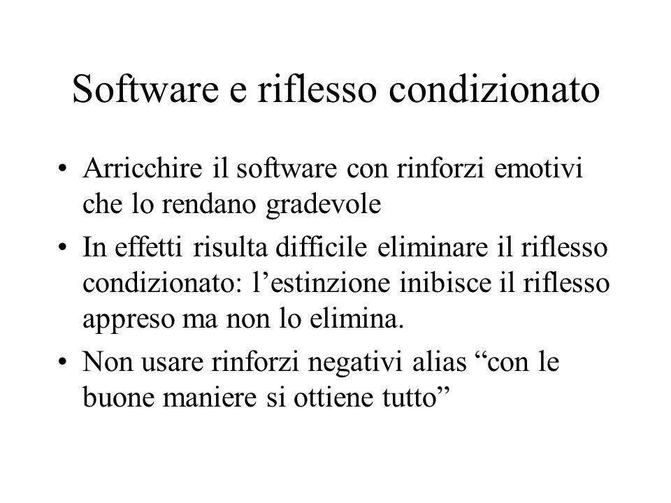 Software e riflesso condizionato