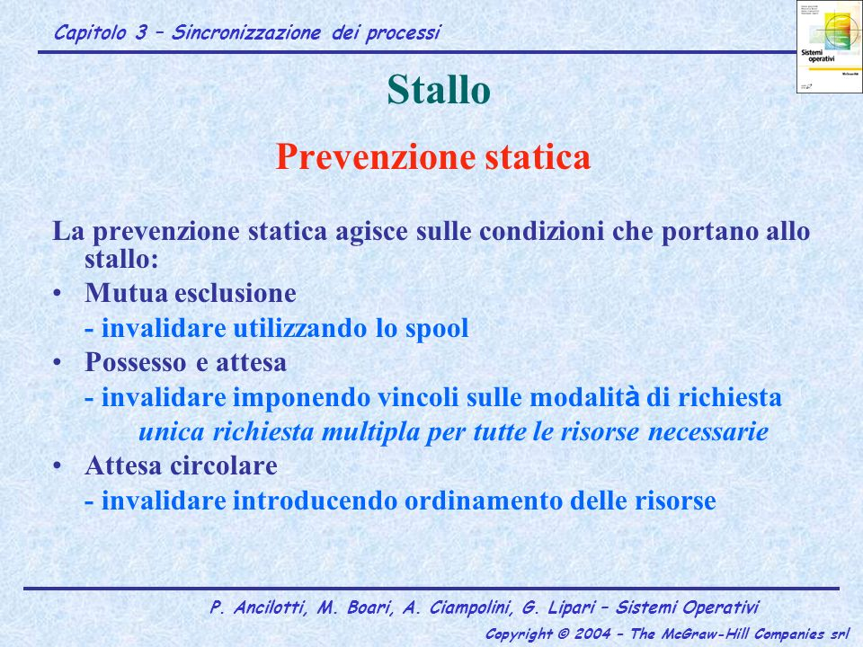 Stallo Prevenzione statica