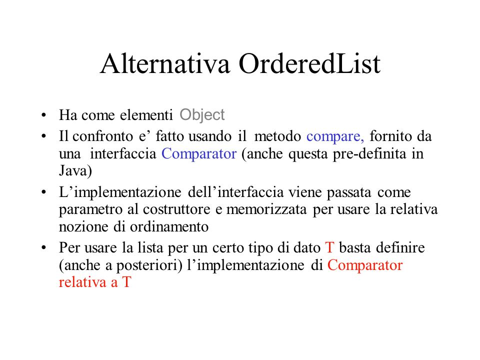 Alternativa OrderedList