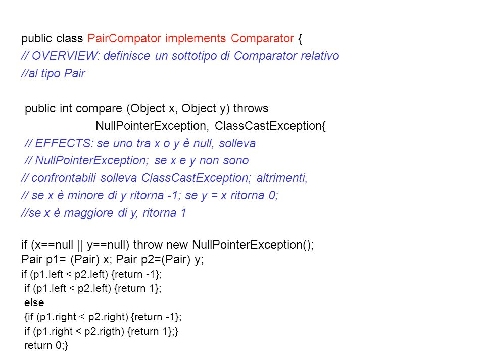 public class PairCompator implements Comparator {