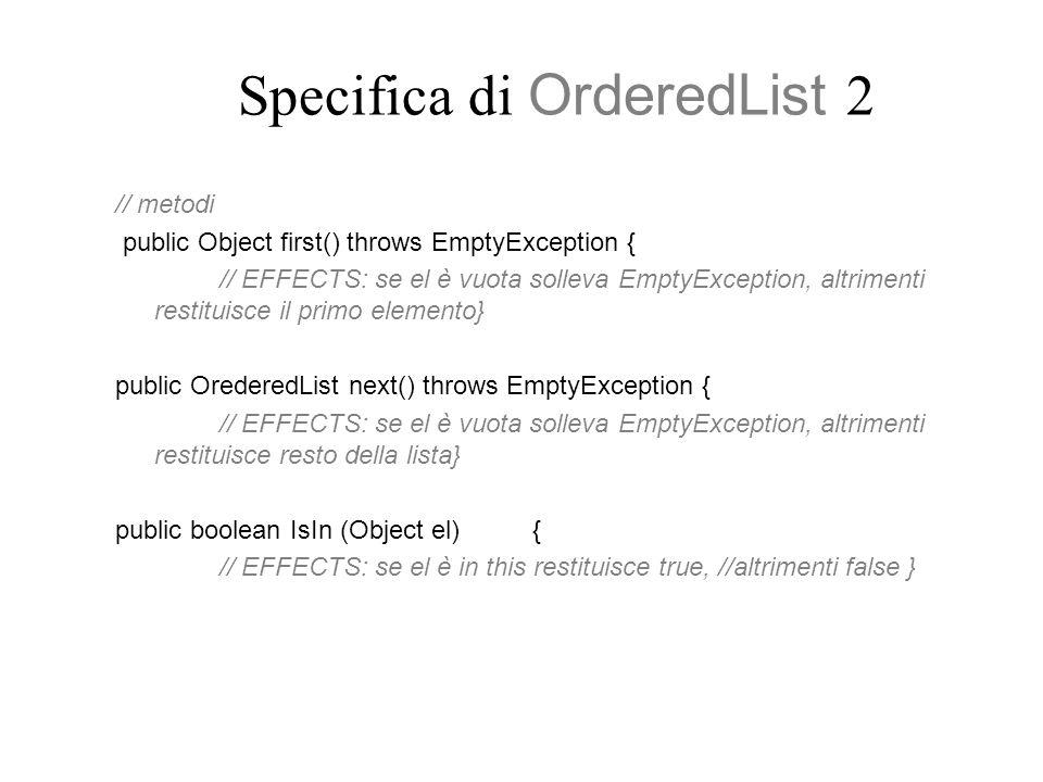 Specifica di OrderedList 2