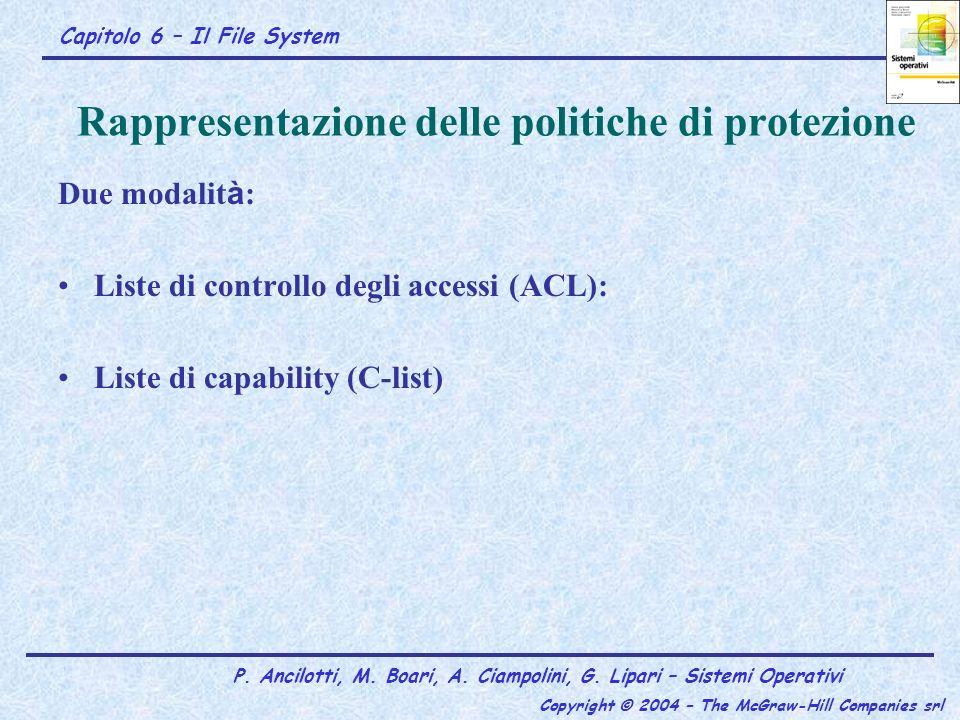 Rappresentazione delle politiche di protezione