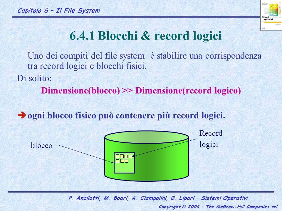 6.4.1 Blocchi & record logici
