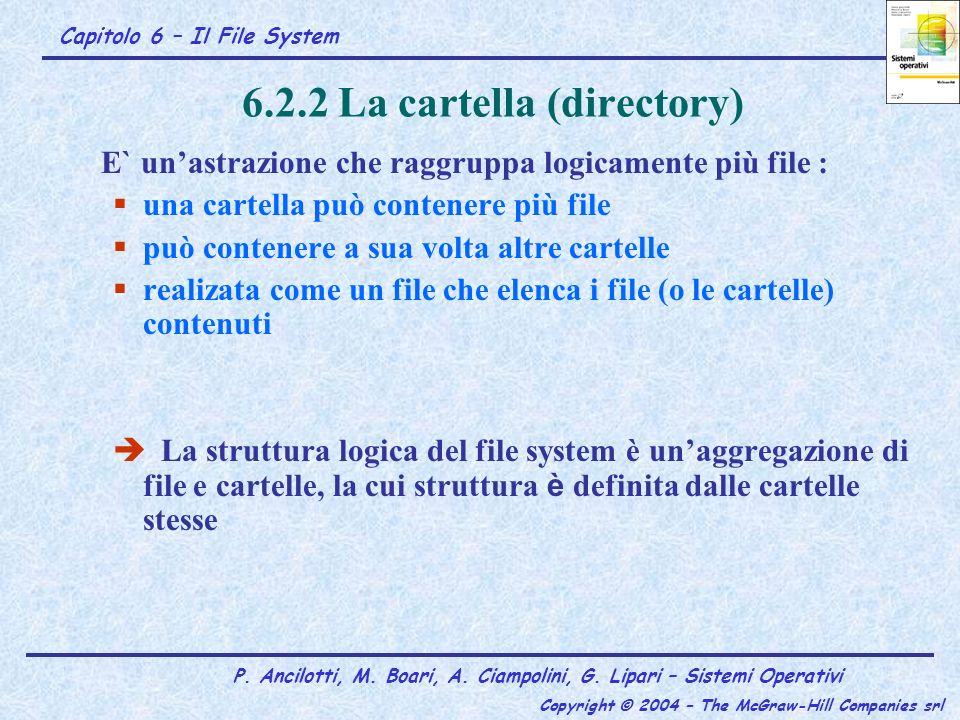6.2.2 La cartella (directory)
