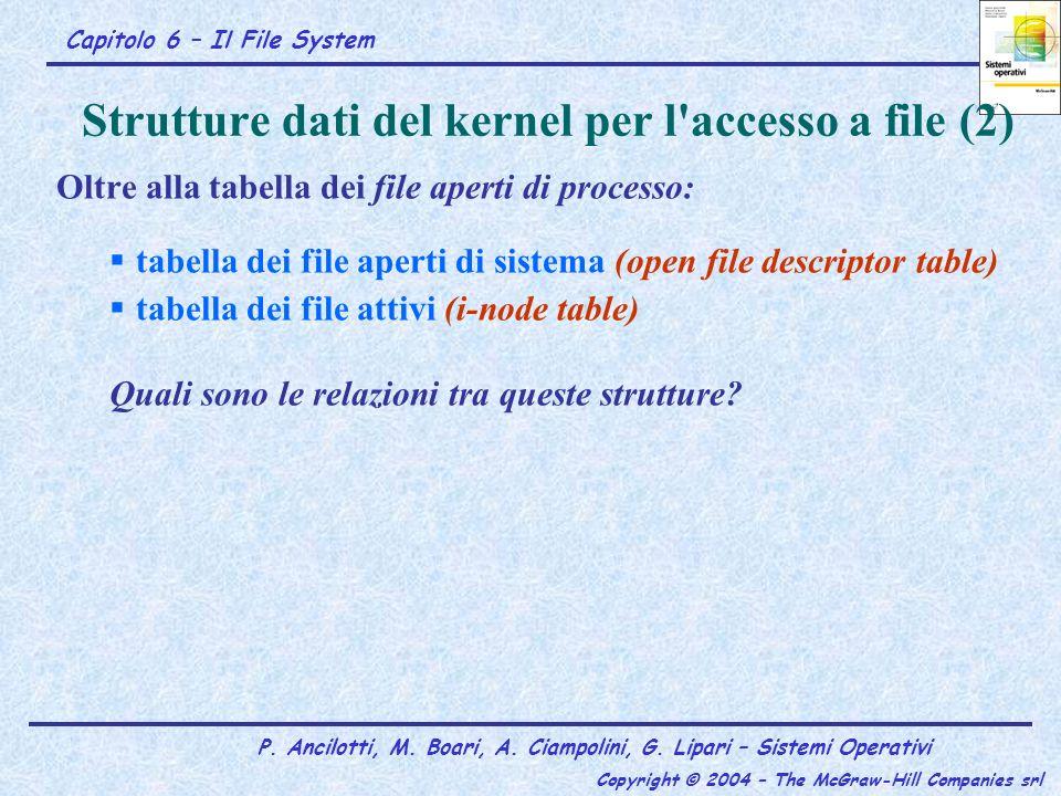 Strutture dati del kernel per l accesso a file (2)