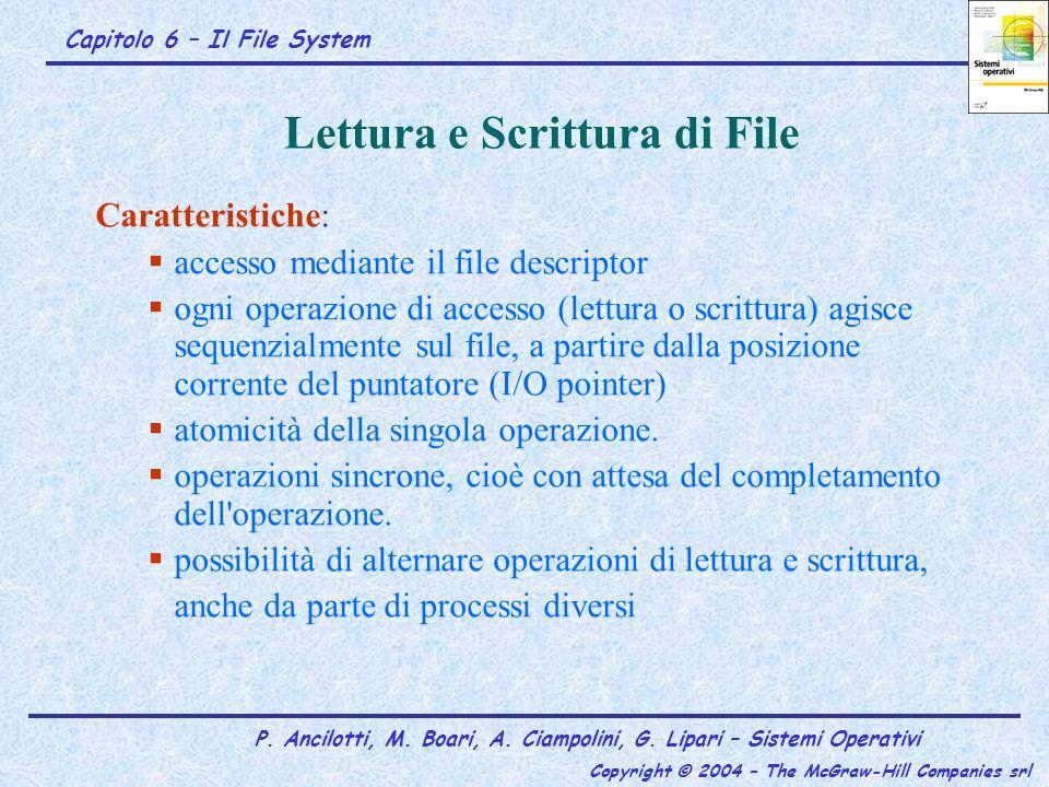 Lettura e Scrittura di File
