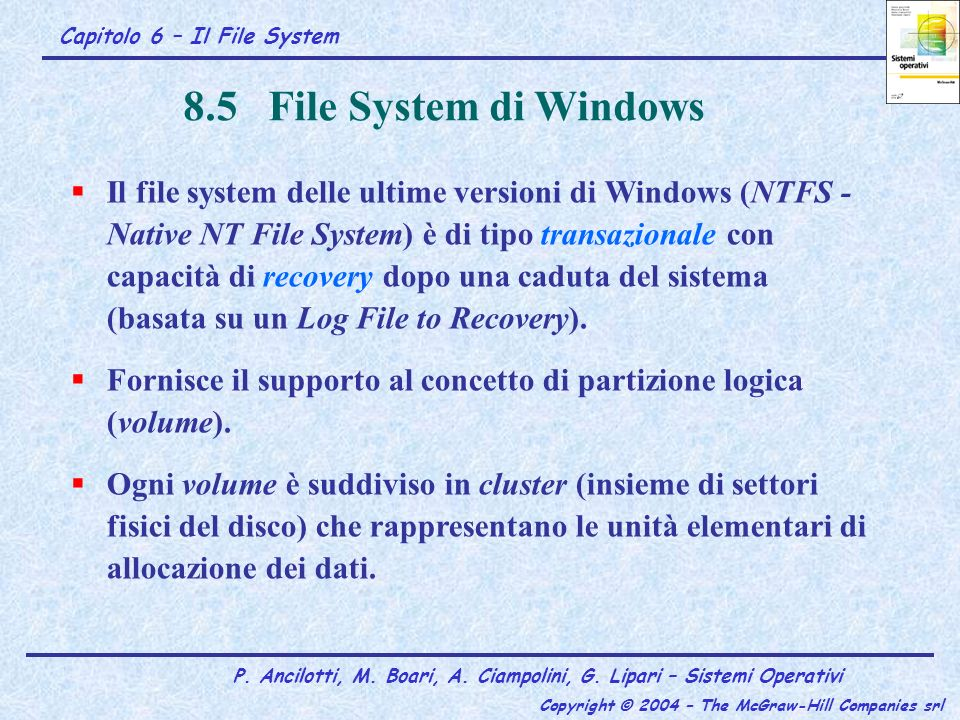 8.5 File System di Windows