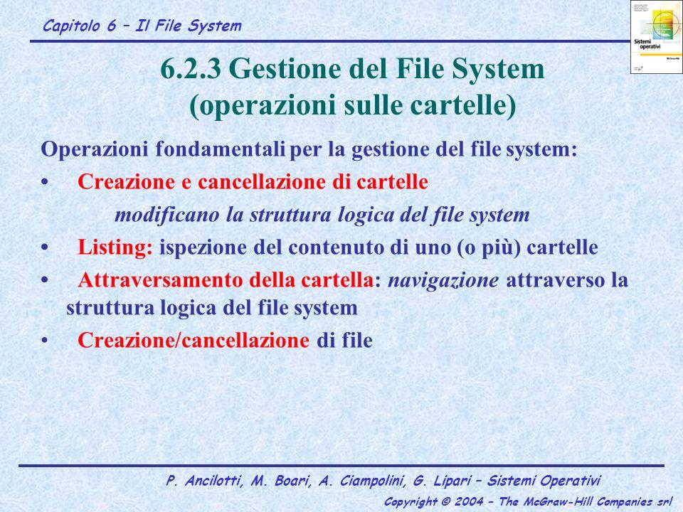 6.2.3 Gestione del File System (operazioni sulle cartelle)