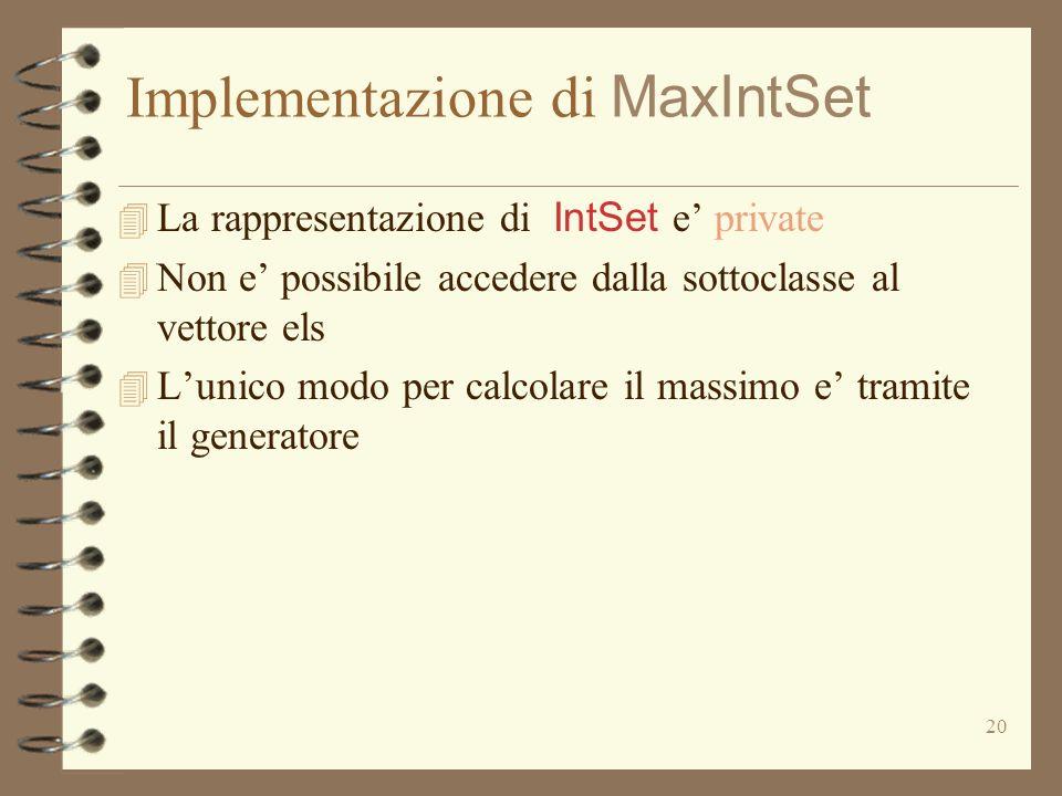 Implementazione di MaxIntSet