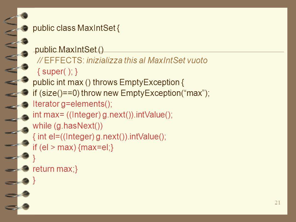 public class MaxIntSet {