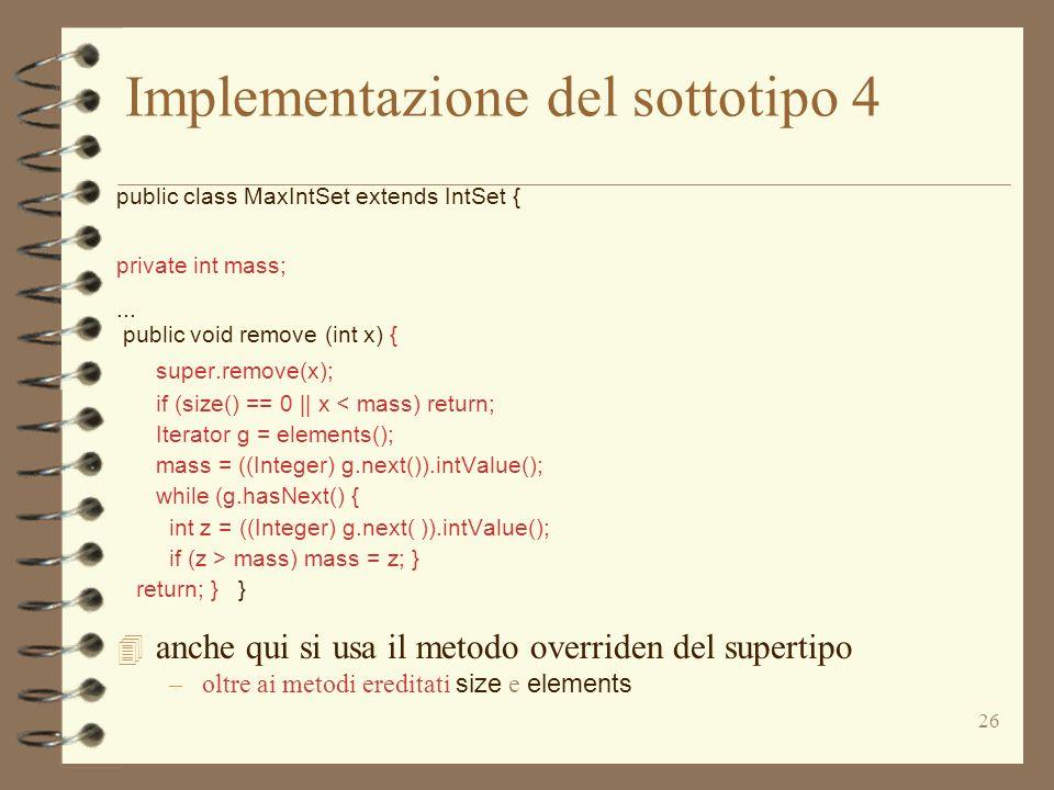 Implementazione del sottotipo 4
