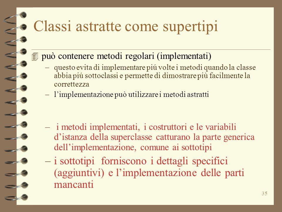 Classi astratte come supertipi
