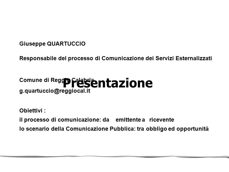 Presentazione Giuseppe QUARTUCCIO