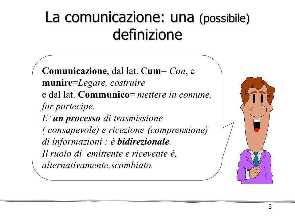 La comunicazione: una (possibile) definizione