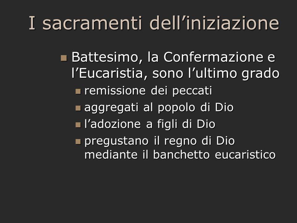 I sacramenti dell'iniziazione