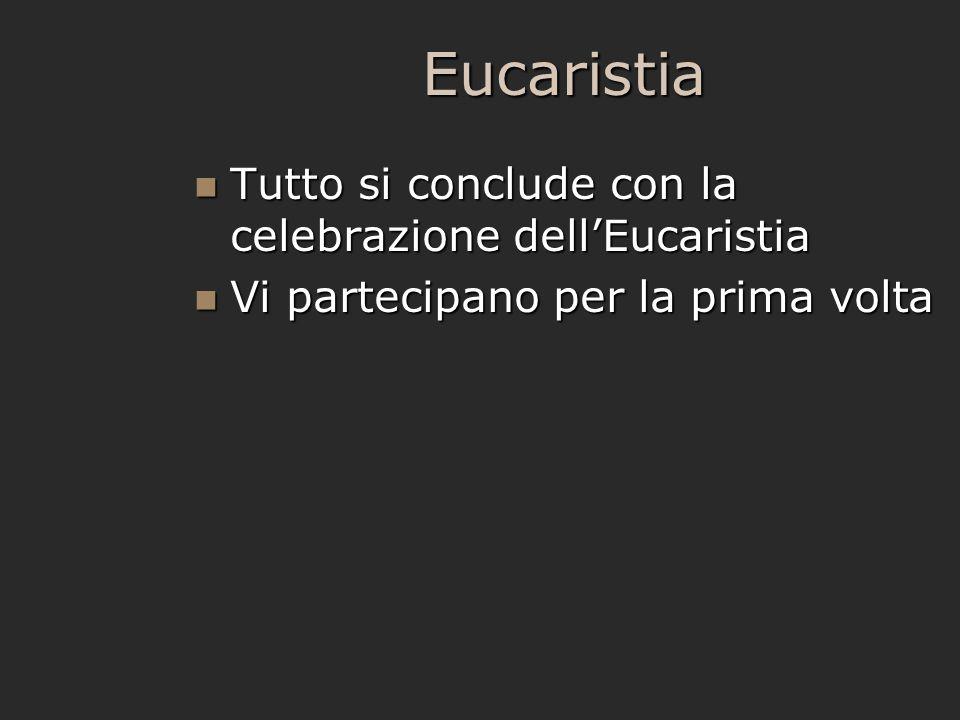 Eucaristia Tutto si conclude con la celebrazione dell'Eucaristia