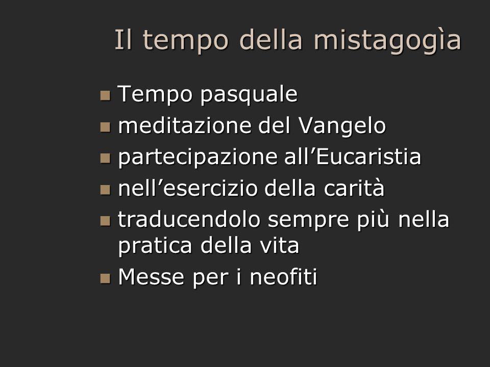 Il tempo della mistagogìa