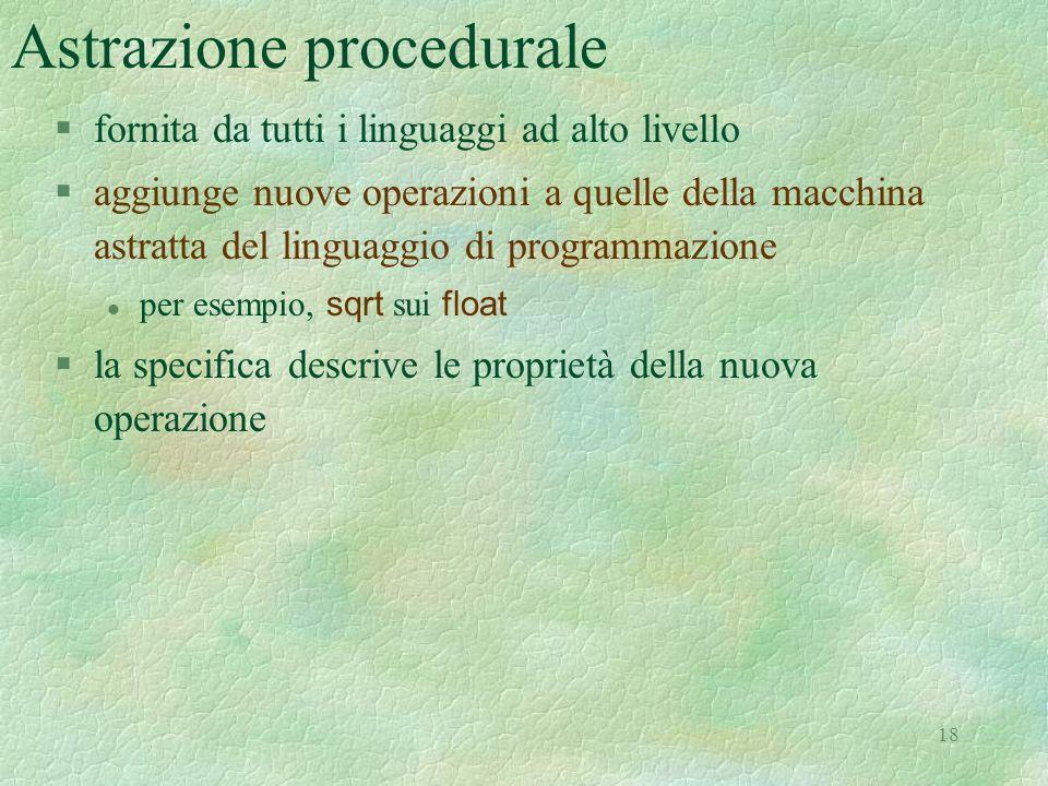Astrazione procedurale