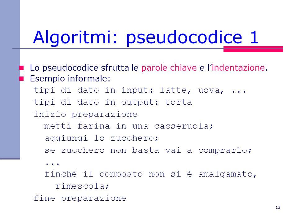 Algoritmi: pseudocodice 1