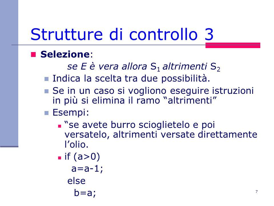 Strutture di controllo 3