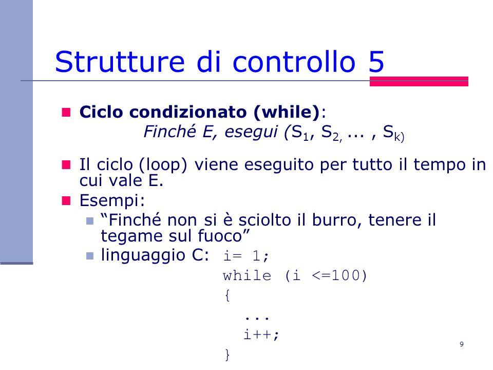 Strutture di controllo 5