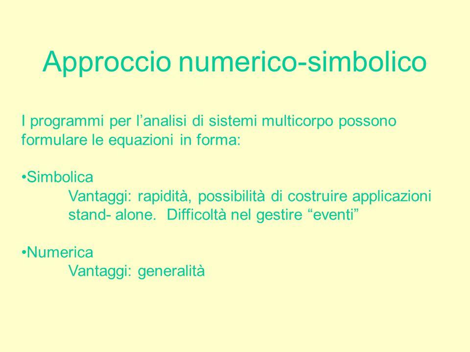 Approccio numerico-simbolico