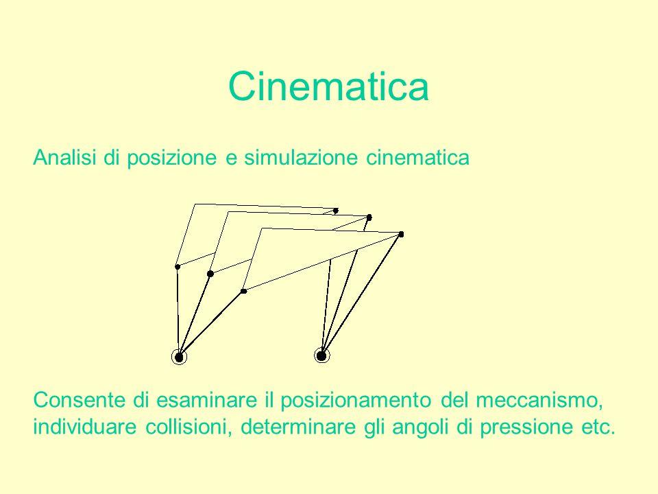 Cinematica Analisi di posizione e simulazione cinematica