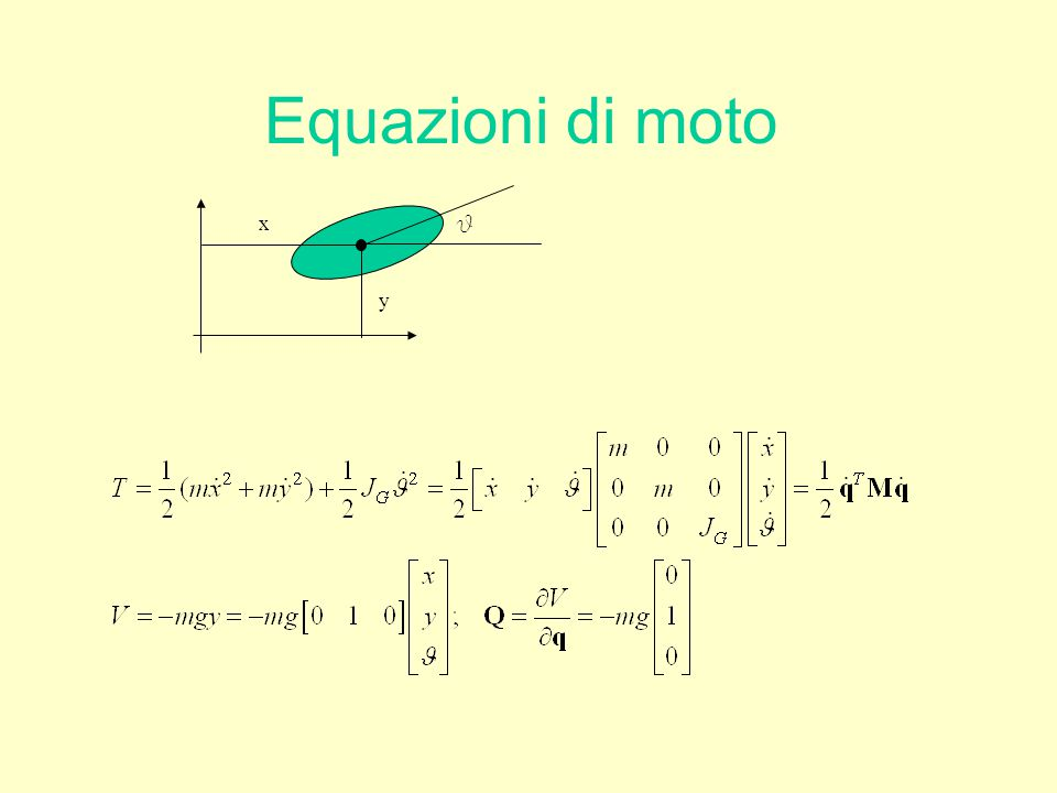 Equazioni di moto x q y