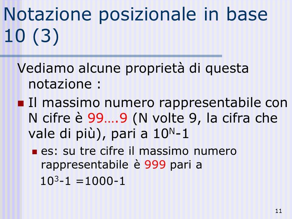Notazione posizionale in base 10 (3)